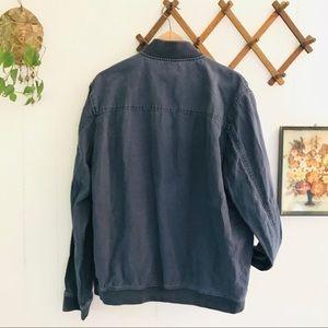 Saks Fifth Avenue Jackets & Coats - Saks Fifth Avenue Linen Blend Bomber Jacket